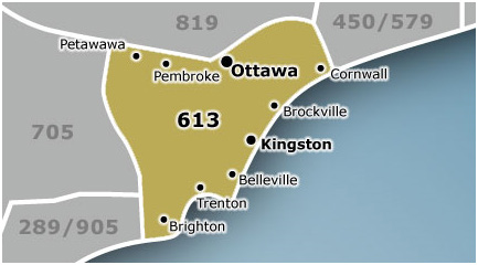 Canadian Area Codes And Announced Digital Home Digital - Telephone area codes usa