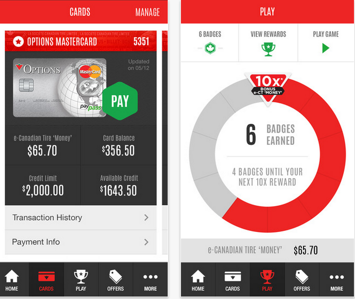 Canadian Tire Mastercard >> Canadian Tire Rolls Out New App With Mobile Credit Card