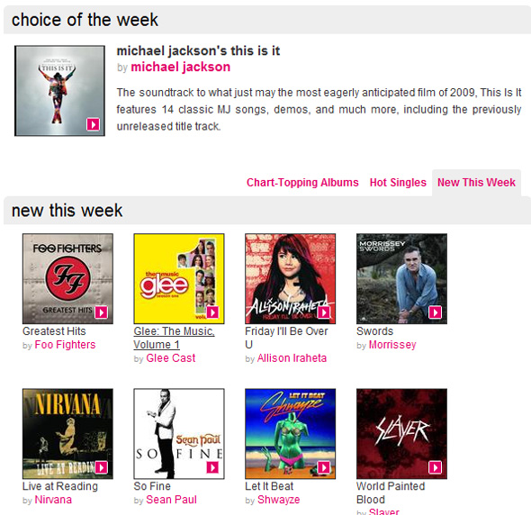 HMV MP3 Music Download Site opened November 4th