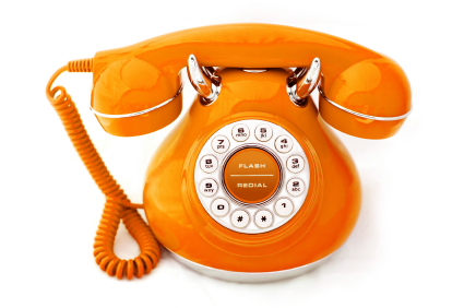 Orange Vintage Phone
