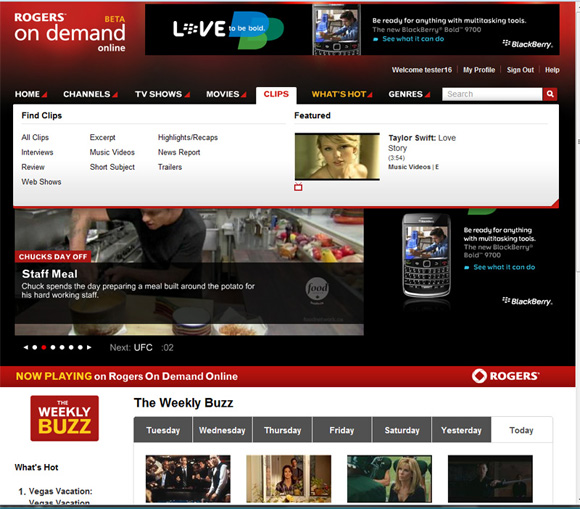 Rogers On Demand Online Screenshot