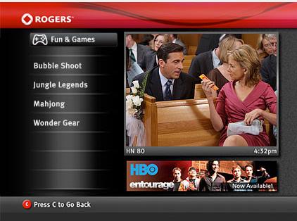 Rogers QuickStart Menu - Fun and Games