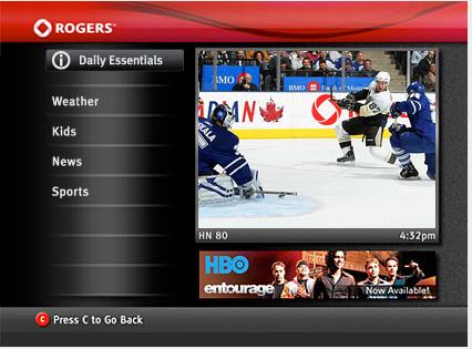 Rogers QuickStart Menu - Daily Essentials